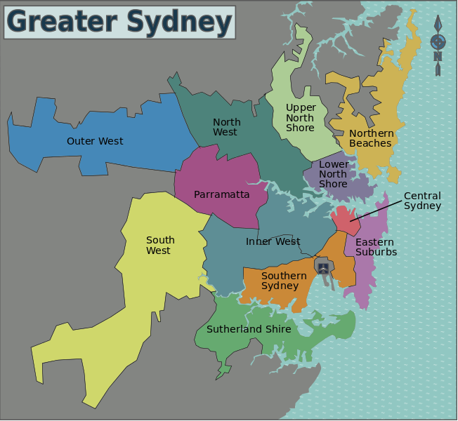 Best suburbs to invest in Sydney Greater Sydney Map for Investing in Sydney