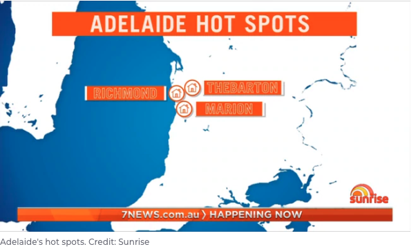 Adelaide Australian Capital City Hotspots
